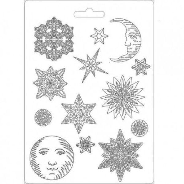 molde pvc snowflakes
