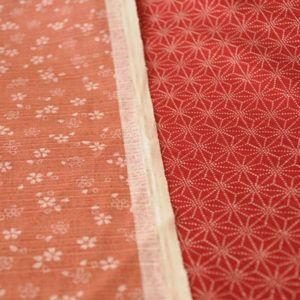 Tela Japonesa sevenberry rosa y rojo
