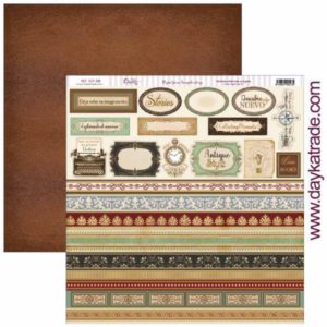 papel tags antique style