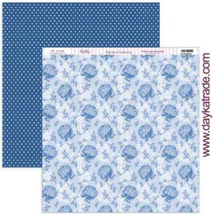 papel hortensias azul