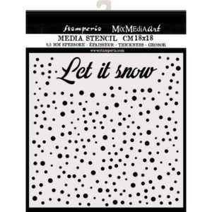stencil let it snow