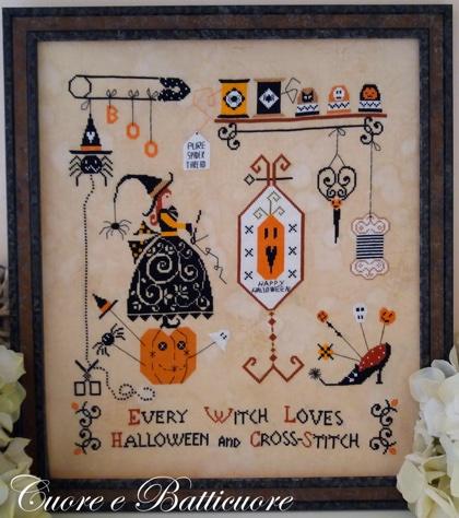 Punto de cruz Halloween