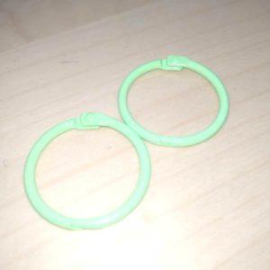 set anilla verde manzana