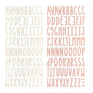 alfabeto chipboard muerdago