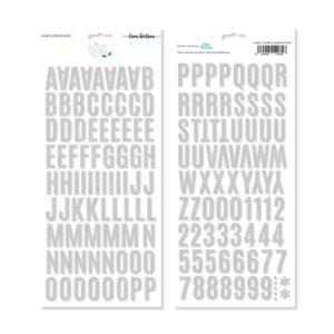 alfabeto chipboard norte