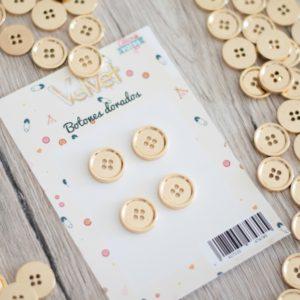 botones dorados velvet