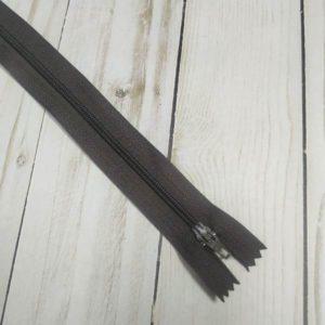 cremallera de nylon 30cm marron