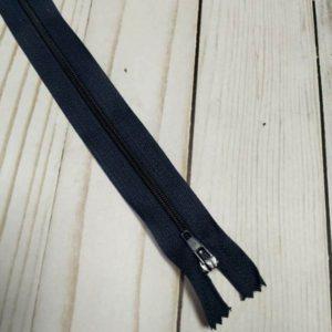 cremallera de nylon 40cm azul marino