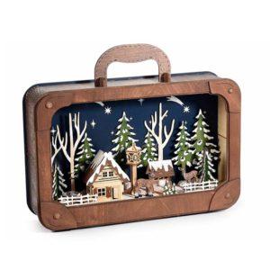 maleta decorativa navideña