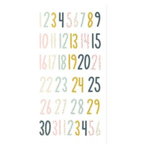 numeros chipboard muerdago