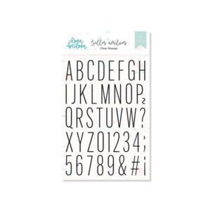 sellos acrilicos alfabeto thin
