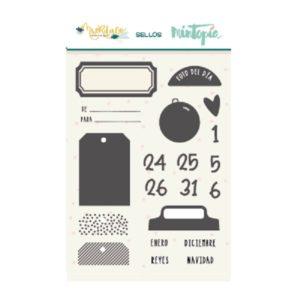 sellos acrílicos etiquetas