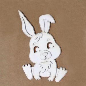 silueta para repujado conejo