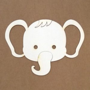 silueta para repujado elefante