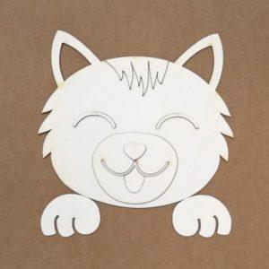 silueta para repujado gato