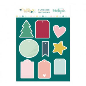 TROQUELES MINI TAGS NAVIDEÑOS