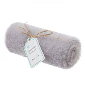 plush fur fabric gray