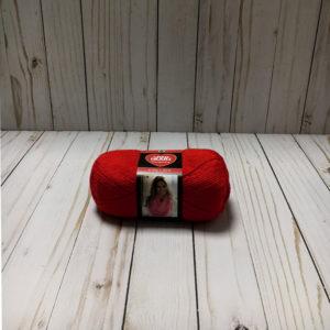 lana acrílica roja