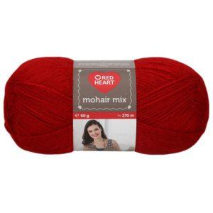 lana mohair rojo