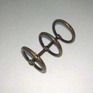 mecanismo 3 anillas color oro envejecido