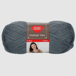 red heart mohair mix gris oscuro