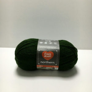 red heart northern verde oscuro