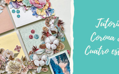 Corona de scrapbooking decorativa