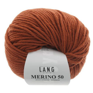 lang yarns merino 50 marrón