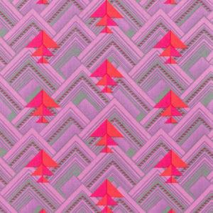 Tela Estampada Splendor rosa triángulos