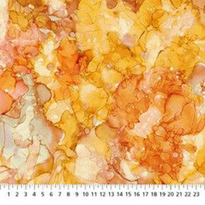 Tela Tie Dye naranja