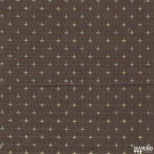 Tela Japonesa color marrón con cruces