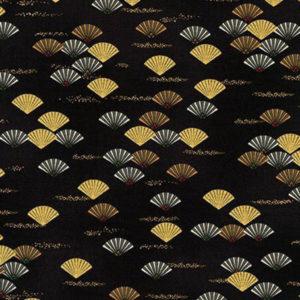 tela abanicos sobre fondo negro
