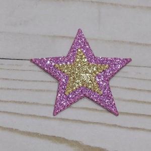 Estrella morada con brillo