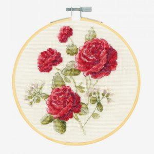 kit de punto de cruz las rosas
