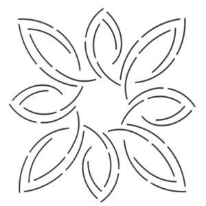 plantilla de acolchado pear leaf