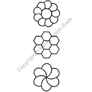 plantilla de acolchado small flowers