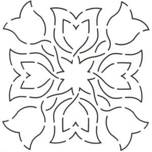 plantilla de acolchado tulip fantasy
