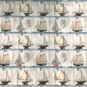 Tela Estampada Barcos