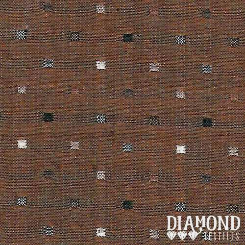 Tela Japonesa color marrón con cuadraditos de colores