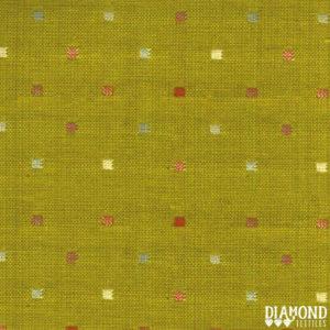Tela Japonesa color verde pistacho con cuadraditos