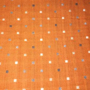 Tela Japonesa color naranja con cuadraditos