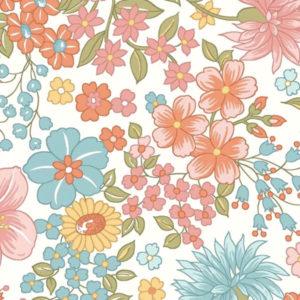 Tela Estampada flores Sunlit Blooms