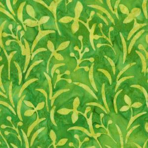 Tela Batik ramitas verde