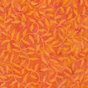 Tela Batik ramitas color naranja