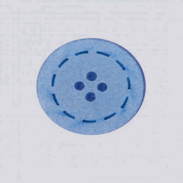 Botón color Marino de Algodón reciclado
