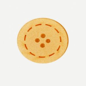 Botón color Naranja de Algodón reciclado