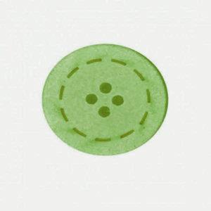 Botón color Verde de Algodón reciclado
