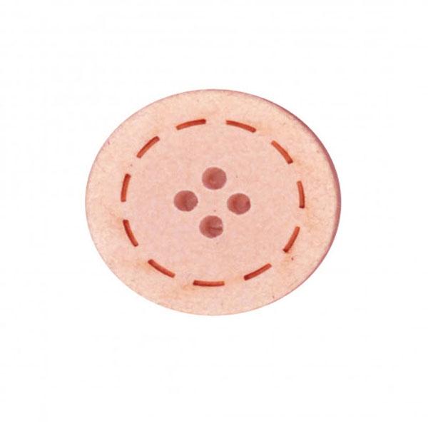 Botón Rosa de Algodón reciclado
