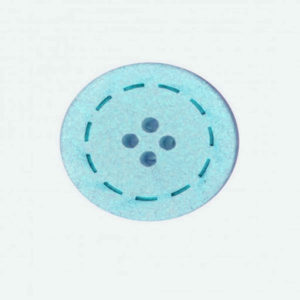 Botón color Turquesa de Algodón reciclado