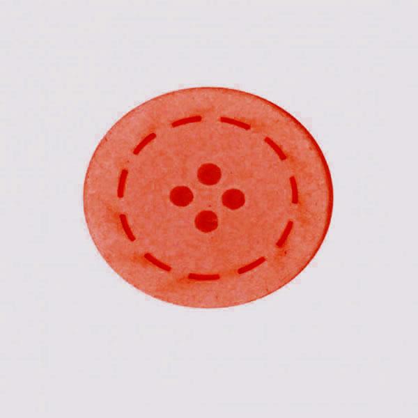 Botón color Rojo de Algodón reciclado